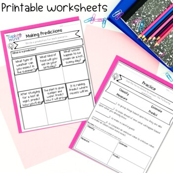 Science Skills Printable, Task Cards and Activity for Google Classroom