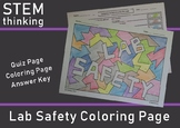 Back to School Science Skills Lab Safety Color by Number