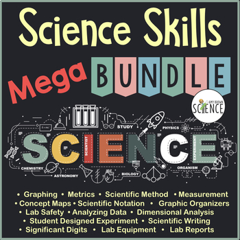 Science Skills Mega Bundle: Metrics, Measurement, Scientific Method, Graphing