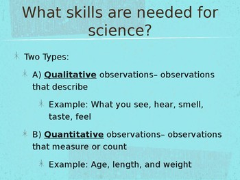Science Skills Notes PowerPoint