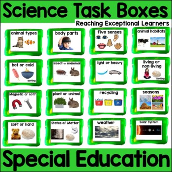 Science Skills Task Box Activities for Special Education