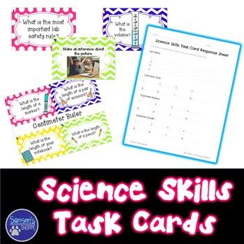 Science Skills Task Card Activity