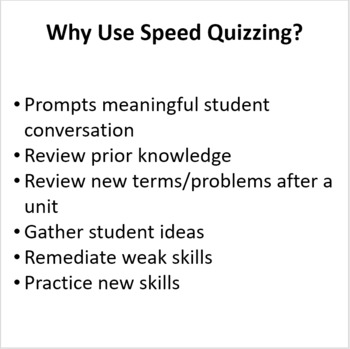 Science Skills and Safety - Speed Quizzing