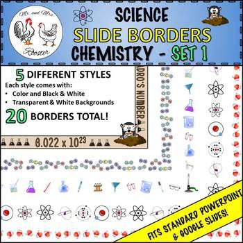 science slide borders chemistry set 1 ppt or google slides