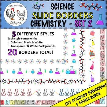 science slide borders chemistry set 2 ppt or google slides