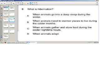 Science, Smart board Senteo Quiz, Behavioral Adaptations,