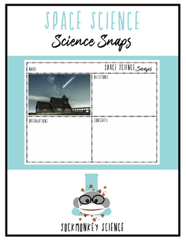 Science Snaps - Space Science Picture of the Day Worksheets {Middle School}