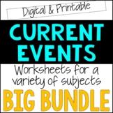 Current Event Worksheets Bundle