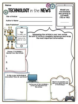 Current Event Worksheets Bundle