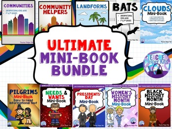 Science & Social Studies Informational Texts Mini-Book Bundle
