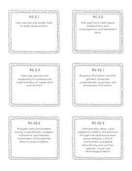 Science & Social Studies Report card File Folder Labels