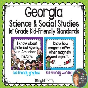 Science & Social Studies Standard Posters for Georgia 1st