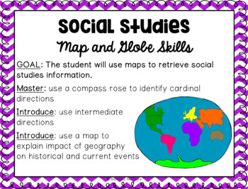 GA Standards of Excellence Social Studies Science Posters 1st Grade Chevron