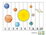 Science Solar System Number Sequence Puzzle 1-10 preschool homeschool