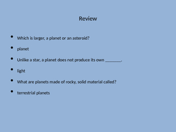 Science: Solar System PowerPoint