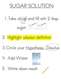 Science Solution Experiment