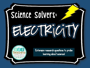 Science Solvers: Electricity Research Cards