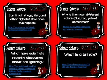 Science Solvers: Weather Research Cards