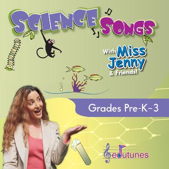 Science Songs Digital Download - 18 K-3 Songs + Karaoke Versions; NGSS-Aligned