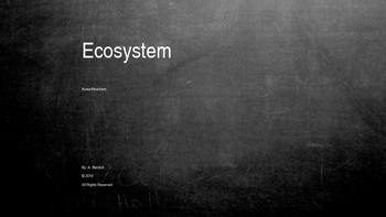 """Science Songs: """"Ecosystem"""""""