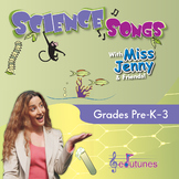 Science Songs CD-Book Set - 18 K-3 Songs + Karaoke Versions; NGSS-Aligned
