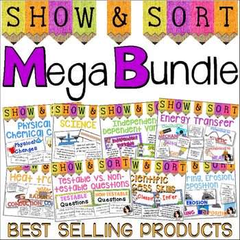 Science Show and Sort Bundle GRADES 4-5 *8 SORTING ACTIVITIES*