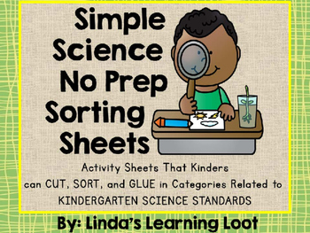 Simple Science: Science No Prep Sorting Sheets