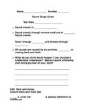 Science Sound Study Guide third grade