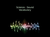 Science: Sound Unit Vocabulary Visuals (for ELLs)