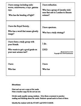 Science Sound Vocabulary Activity Elementary Grade 5