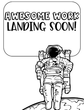 "Science/Space ""Work Coming Soon"" Signs"