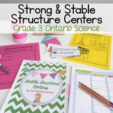 Strong and Stable Structures Centers and Activities - Grade 3 Ontario