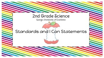 Georgia Standards of Excellence: 2nd Grade Science