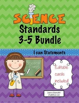 Science Standards Bundle for grades 3-5