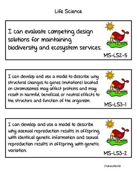 Science Standards NGSS Middle School Bundle