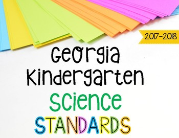 Kindergarten Science Standards Posters for Georgia Standards of Excellence