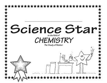 Science Star Certificates - Chemistry