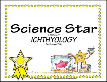 Science Star Certificates - Fish