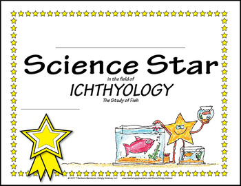 Science Star Certificates - Study of Fish