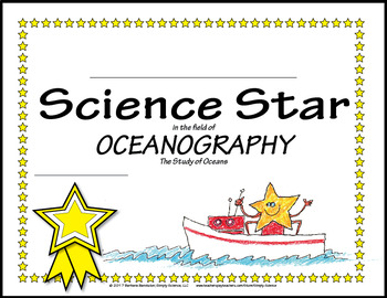 Science Star Certificates - Oceanography