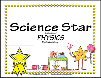 Science Star Certificates - Physics