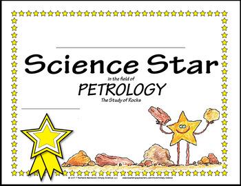 Science Star Certificates - Rocks