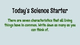 Science Starter-Characteristics of living things