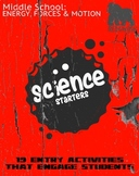 Science Starters: 19 Entry Activities that Engage Students!