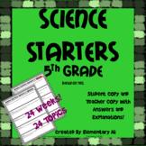 Science Starters 5th Grade (TEKS)