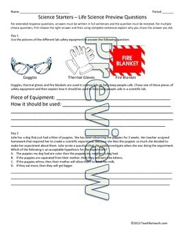 Bell Work / Bellringers Combo Pack - 200 Science Questions For Middle School