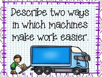 Science Starters or Task Rotation ~ Work and Simple Machines ~