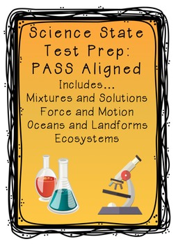Science State Test Prep:  PASS Aligned