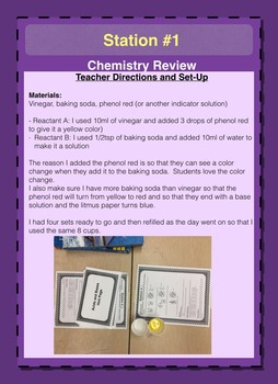 Science Stations: Engaging Physical Science Mini Labs to Review Standards