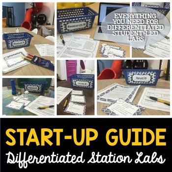 Science Station Lab Bundle - Differentiated Science Labs - Distance Learning